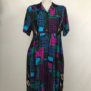 Vintage caliche abstract dress